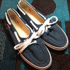 Levi's Navy Blue Slip On Sneakers